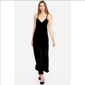 NWT Johnny Was Molly Maxi Velvet Slip Dress Goth L
